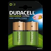 Duracell Rechargable Ultra D Battery 3000mah 2s (DURHR20B2)